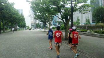 2019/07/03の颯走塾水曜マラソン練習会in織田フィールド6