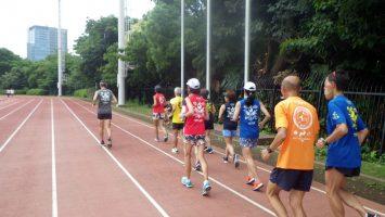 2019/07/03の颯走塾水曜マラソン練習会in織田フィールド1