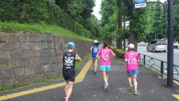 2019/07/10の颯走塾水曜マラソン練習会in東宮3