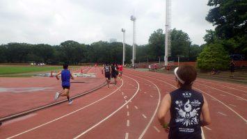 2019/07/17の颯走塾水曜マラソン練習会in織田フィールド3