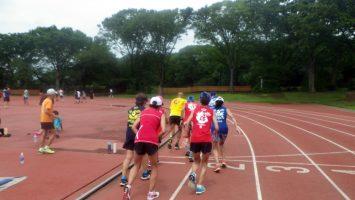 2019/07/17の颯走塾水曜マラソン練習会in織田フィールド8