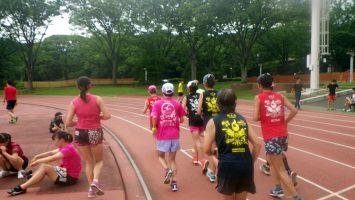 2019/07/24の颯走塾水曜マラソン練習会in織田フィールド6