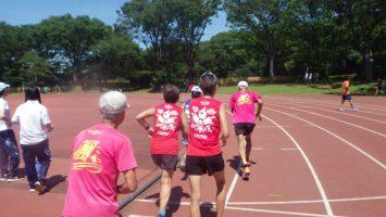 2019/08/07の颯走塾水曜マラソン練習会in織田フィールド3