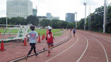 2019/08/21の颯走塾水曜マラソン練習会in織田フィールド2