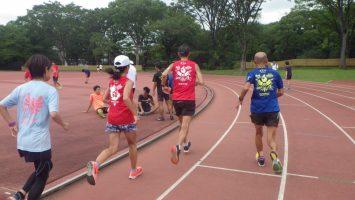 2019/08/21の颯走塾水曜マラソン練習会in織田フィールド6