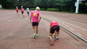 2019/08/21の颯走塾水曜マラソン練習会in織田フィールド7