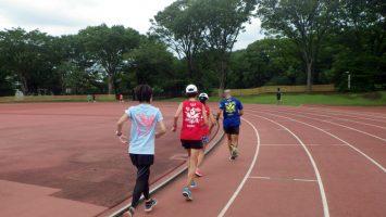 2019/08/21の颯走塾水曜マラソン練習会in織田フィールド8