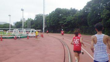 2019/09/04の颯走塾水曜マラソン練習会in織田フィールド3
