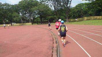 2019/09/11の颯走塾水曜マラソン練習会in織田フィールド2