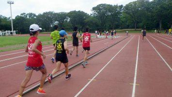 2019/09/11の颯走塾水曜マラソン練習会in織田フィールド3