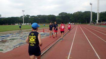 2019/09/11の颯走塾水曜マラソン練習会in織田フィールド5