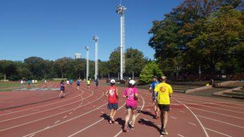 2019/10/23の颯走塾水曜マラソン練習会in織田フィールド1