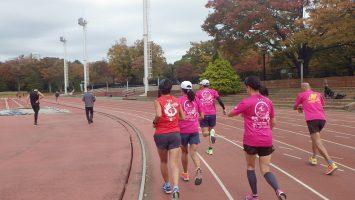 2019/11/13の颯走塾水曜マラソン練習会in織田フィールド2
