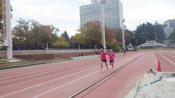 2019/11/13の颯走塾水曜マラソン練習会in織田フィールド7