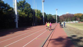 2019/11/20の颯走塾水曜マラソン練習会in織田フィールド4