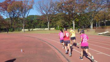 2019/11/20の颯走塾水曜マラソン練習会in織田フィールド6