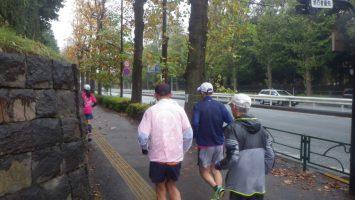 2019/11/27の颯走塾水曜マラソン練習会in赤坂御所2