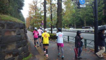 2019/11/27の颯走塾水曜マラソン練習会in赤坂御所5