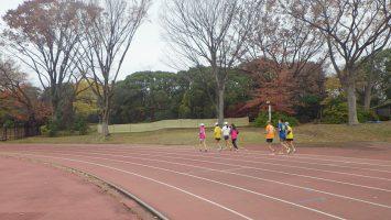 2019/12/11の颯走塾水曜マラソン練習会in織田フィールド6