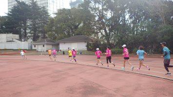 2019/12/18の颯走塾水曜マラソン練習会in織田フィールド3