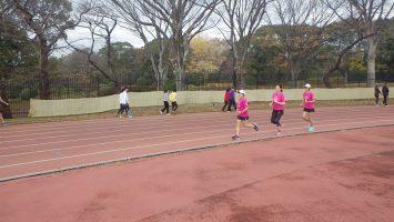 2019/12/18の颯走塾水曜マラソン練習会in織田フィールド5