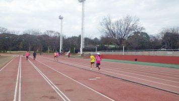 2019/12/18の颯走塾水曜マラソン練習会in織田フィールド7