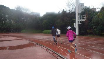 2020/01/08の颯走塾水曜マラソン練習会in織田フィールド3