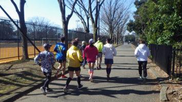 2020/02/05の颯走塾水曜マラソン練習会in織田フィールド1