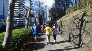 2020/02/19の颯走塾水曜マラソン練習会in赤坂御所1