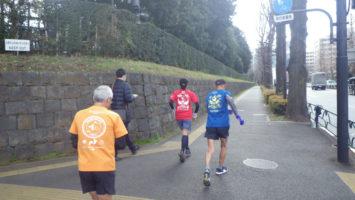 2020/02/19の颯走塾水曜マラソン練習会in赤坂御所2
