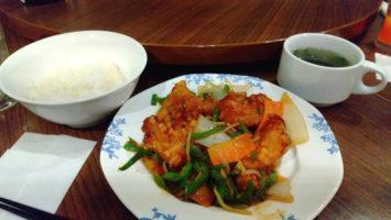 2020/02/26のランチはバーミヤンで鶏肉と野菜の甘酢炒め