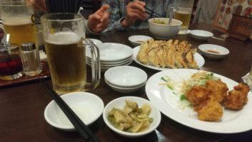 2020/03/11のランチは餃子の郷にて昼飲み