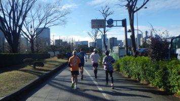 2020/01/29の颯走塾水曜マラソン練習会in皇居1