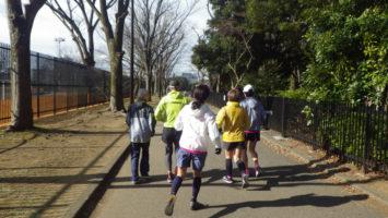 2020/02/12の颯走塾水曜マラソン練習会in織田フィールド1