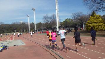 2020/02/12の颯走塾水曜マラソン練習会in織田フィールド3