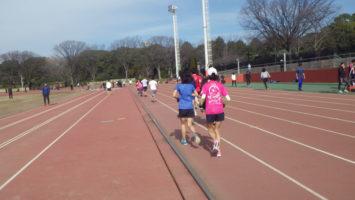 2020/02/12の颯走塾水曜マラソン練習会in織田フィールド4