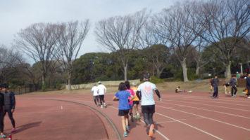 2020/02/12の颯走塾水曜マラソン練習会in織田フィールド5
