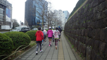2020/03/04の颯走塾水曜マラソン練習会in神宮外苑2