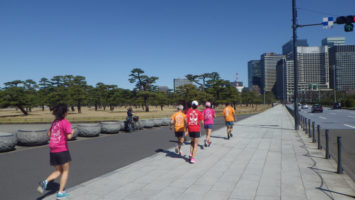 2020/03/11の颯走塾水曜マラソン練習会in皇居5