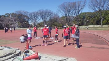 2020/03/25の颯走塾水曜マラソン練習会in織田フィールド4