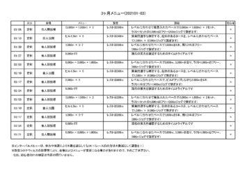 颯走塾マラソン練習会・3ヶ月メニュー(202101-03)